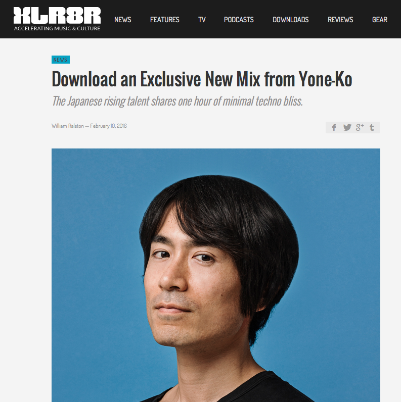 Yone Ko, Interview & DJ Mix for XLR8 (Window below)