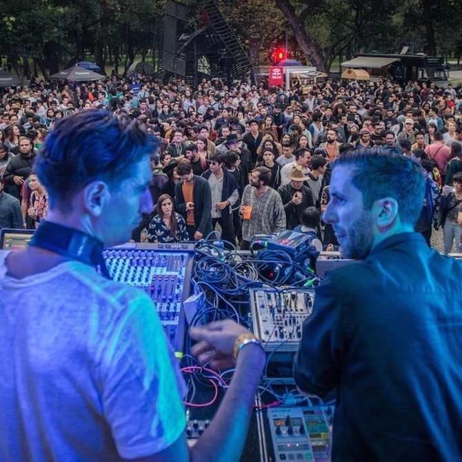 DeWalta and Mike Shannon at MUTEK Mexico